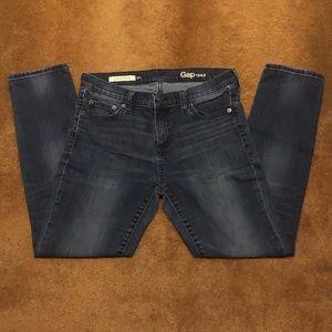 Gap Girlfriend Dark Wash Jeans.